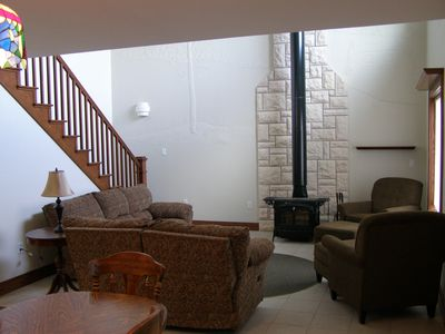 3 Bedroom condo unit , furnished , on Lake Metigoshe, Bottineau, ND  58318