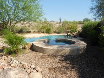 View the desert from our private, heated  pool and spa.