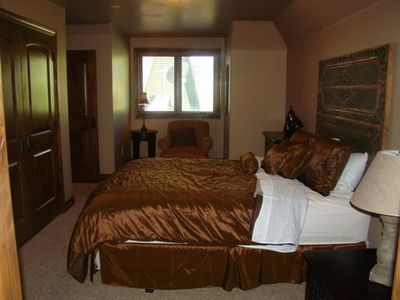 Queen Bedroom up....Bedroom #4 in luxury vacation rental in Midway Utah