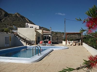 New House:Restored Cave: Private Pool:Spanish Courtyard/Mountain Views,