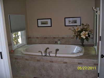 Jacuzzi tub in master suite