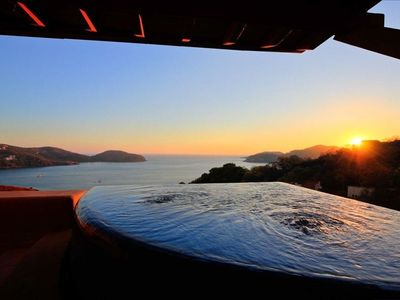 sunset views - private pool