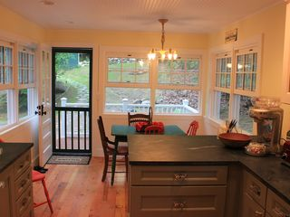 Pilot Knob cottage photo - Renovated breakfast area (2012) leading to the breakfast porch