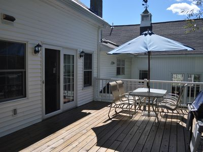 deck off dining area