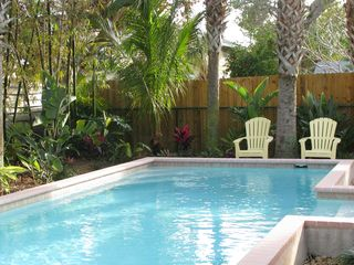 Anna Maria house photo - Private Tropical Pool Area Behind House