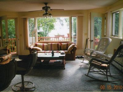 Petoskey cottage rental - Living Room # 2-looking towards Lake