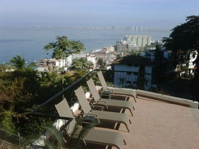 Puerto Vallarta condo rental - Pool deck & water views from private terrace