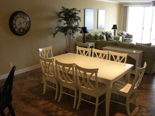 Oceans Mist Ocean City condo photo - Dining Area with seating for 8 plus 3 at the bar island