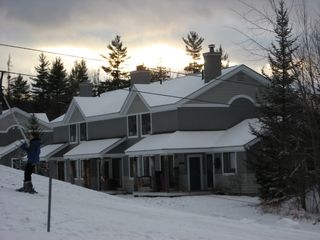 Burke townhome photo - Ski right to your back deck...(50 yds from j-bar)