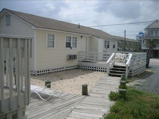 Surf City cottage photo - View from Main Cottage to Apartment Units