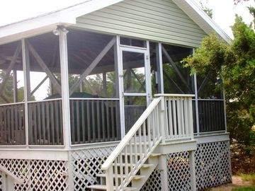 Backyard Gazebo with Hot Tub, Hammock, Picnic Table, Gas Grill