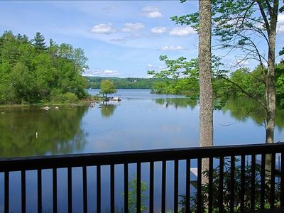 View from back deck looking across lake to Tanglewood.