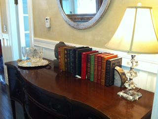 San Francisco apartment rental - Foyer with Leather Books and Champagne Bucket set the right mood.