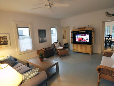 Living room with 42 inch flat screen television