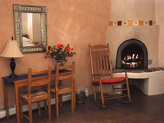 Santa Fe estate photo - Warm fires, comfort and privacy.