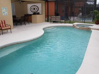 Bellavida Resort house photo - Pool and Hotub with Outdoor BBQ in background