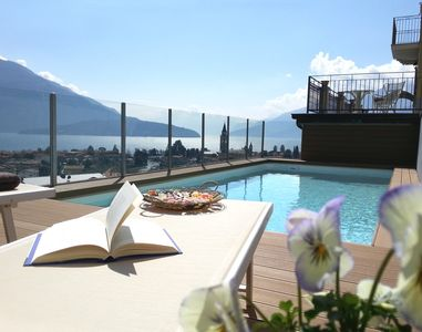 'Villa Perla del Lago': breathtaking views swimming pool, max. 14 people