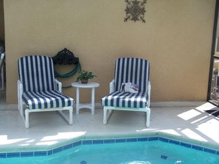 Sandy Ridge house photo - Relax by the pool with your favorite book