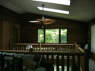 Partial loft area with 2 single beds. - Union Pier house vacation rental photo