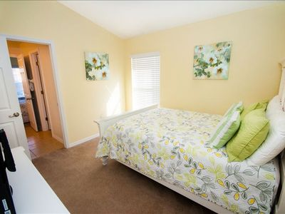 Queen Bedroom with Ensuite Powder room and private Bath/Toilet. HD TV on Armoire