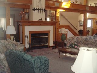 Pocono Summit house photo - Comfy, cozy by the fireplace