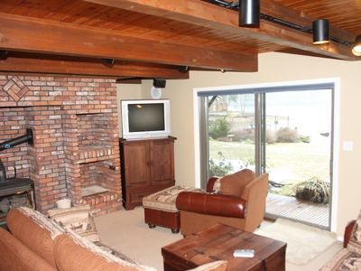 Relax Downstairs with a 2nd Fireplace & TV / DVD