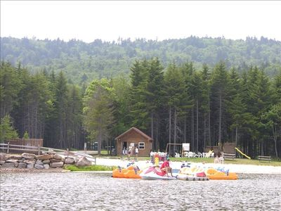 At Summer enjoy the the lake beach, the canoes and the play ground