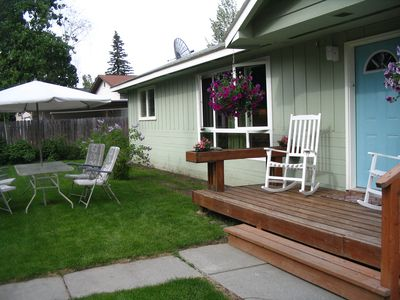 Anchorage house rental - Private entrance and yard