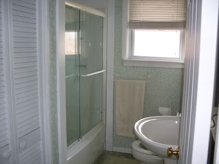 Point Judith house photo - Bathroom with full size shower and bathroom closet