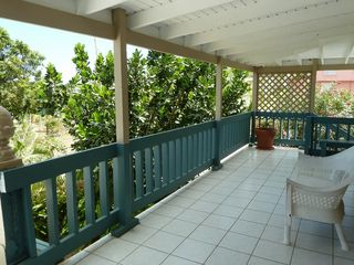 Vieques Island cottage photo - Lots of shady deck space for relaxing after the beach.