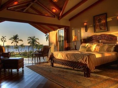 Beachfront master suite on the second floor