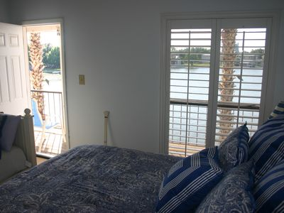 Walk out to the upper deck from the guest bedroom.
