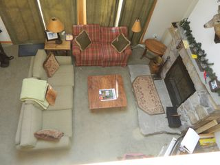 Carrabassett Valley condo photo - Upper unit: Living room view from upper level