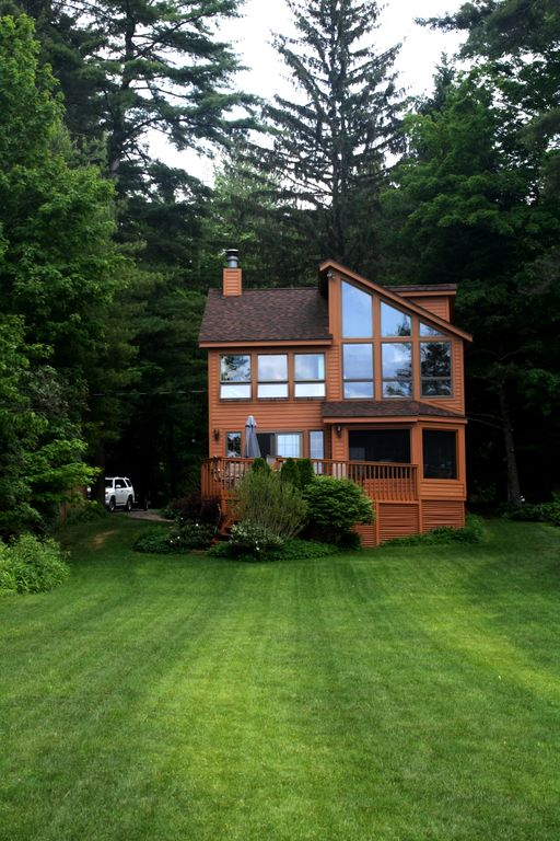 Lake Front Home With Sunset Mountain Homeaway Broadalbin