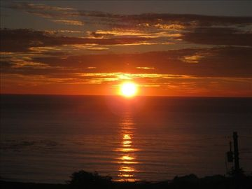 Cambria house rental - Sunset from the deck