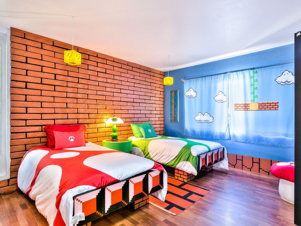 Mario Bedroom Wallpaper Oasis 4 Nerds Mario Brothers Lego Room New Year Sale 199 Nts