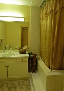 Sugarloaf Key house rental - This updated bathroom has jetted spa tub to relax after a long day of boating.