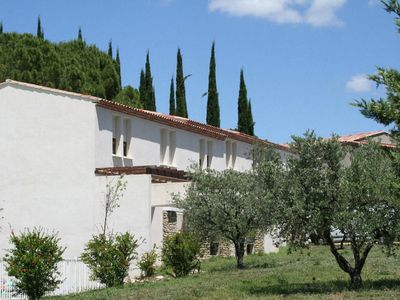 A Provence style holiday accommodation on a holiday park.