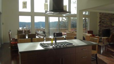 Kitchen island and view while you cook!