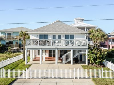 Gorgeous, oceanfront 4 bedroom 3 bath home located on the car free beach.