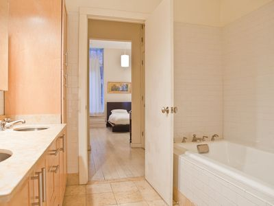 NoHo condo rental - master bathroom