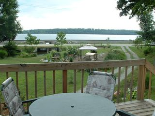 Keokuk cabin photo - Relax on the deck and enjoy the view