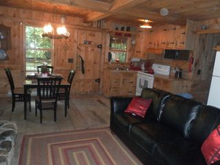 White Cloud cabin photo - Main cabin living room - dinning and kitchen...