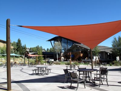 Commons area in Teton Village