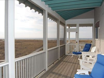 Covered Screened Porch at Dalwhinnie w/oceanfront views .