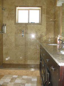 Master bathroom with separate jacuzzi tub