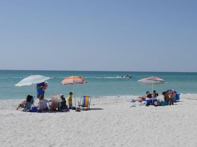 Seems like a crowd for a beach in Boca Grande