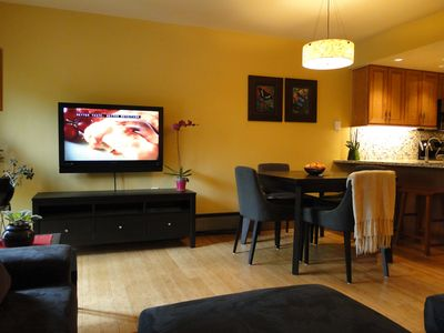 Our Large Screen LED TV- Great for Movie Night or Watching the Game!