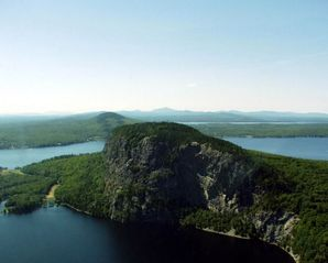 Greenville cabin photo - Arial view of Mt. Kineo on Moosehead Lake.