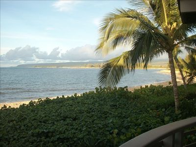 Panoramic ocean view from lanai up North Shore